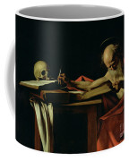 Saint Jerome Writing Coffee Mug by Caravaggio
