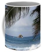 Saint Lucia Palm Tree Small Rock Caribbean Flowing Coffee Mug