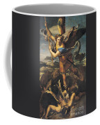 Saint Michael Overwhelming The Demon Coffee Mug