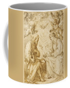 Saint Paul And Saint Stephen Crowned By Angels Coffee Mug