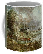 Salisbury Cathedral From The Meadows Coffee Mug by John Constable