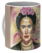 Salma Hayek As Frida Kahlo Coffee Mug