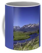 Salmon River And Sawtooth Mountains Coffee Mug