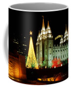 Salt Lake Temple Christmas Tree Coffee Mug by La Rae  Roberts