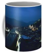 Salzburg, Austria, Night View Coffee Mug by George F. Mobley