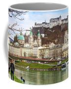 Salzburg City And Fortress  Coffee Mug