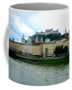 Salzburg Over The Danube Coffee Mug by Carol Groenen