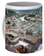 Salzburg Panoramic Coffee Mug by Adam Romanowicz