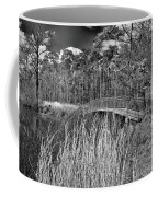 Sam Houston Jones State Park Bridge Bw Coffee Mug