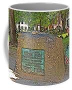 Samuel Adams Gravestone At Granary Burying Ground In  Boston-massachusetts Coffee Mug