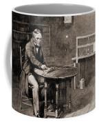 Samuel Morse And Telegraph, 19th Century Coffee Mug