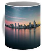San Diego Skyline At Dawn Coffee Mug by James Udall