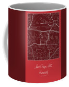 San Diego State Street Map - San Diego State University San Dieg Coffee Mug
