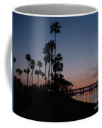 San Diego Sunset With Palm Trees Coffee Mug