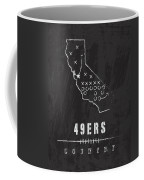 San Francisco 49ers Art - Nfl Football Wall Print Coffee Mug by Damon Gray