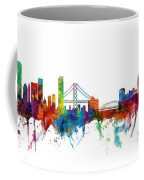 San Francisco And Pittsburgh Skylines Mashup Coffee Mug