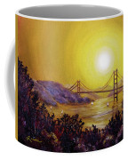 San Francisco Bay In Golden Glow Coffee Mug