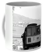 San Francisco Cable Car With Alcatraz Coffee Mug