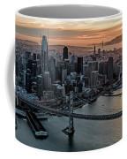 San Francisco City Skyline At Sunset Aerial Coffee Mug