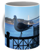 San Francisco - Oakland Bay Bridge - Seagull View Coffee Mug