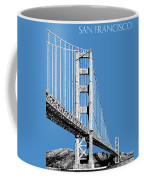 San Francisco Skyline Golden Gate Bridge 2 - Slate Blue Coffee Mug