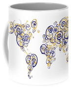 San Francisco State University Colors Swirl Map Of The World Atl Coffee Mug