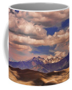 Sand Dunes - Mountains - Snow- Clouds And Shadows Coffee Mug
