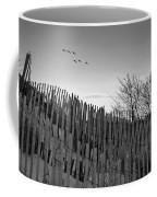 Dune Fences - Grayscale Coffee Mug