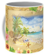 Sand Sea Sunshine On Tropical Beach Shores Coffee Mug