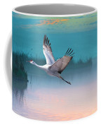 Sandhill Crane And Misty Marshes Coffee Mug