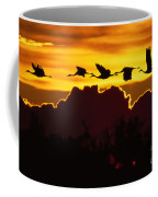Sandhill Crane At Sunset Coffee Mug