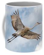 Sandhill Crane In Flight Coffee Mug