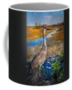 Sandhill Crane In The Glades Coffee Mug