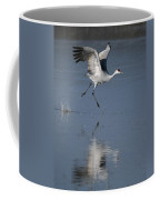 Sandhill Crane Running On Water Coffee Mug