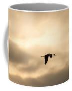 Sandhill Crane Silhouette Flying Coffee Mug