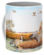 Sandhill Cranes-jp3159 Coffee Mug