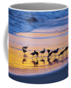Sandpipers In A Golden Pool Of Light Coffee Mug