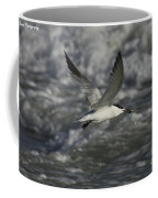 Sandwhich Tern Flies Over Stormy Waves Coffee Mug