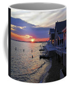 Sandy Neck Sunset At The Cottages Coffee Mug