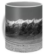 Sangre De Cristos  Dusk In Black And White Coffee Mug