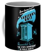 Sanitary Unit Fap Poster Coffee Mug