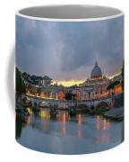 Sant Angelo Bridge At Dusk Coffee Mug