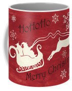 Santa And Reindeer Sleigh Coffee Mug