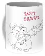 Santa Bear Coffee Mug