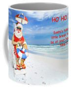 Santa Christmas Greeting Card Coffee Mug