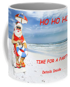 Santa Christmas Party Invitation Coffee Mug