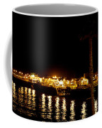 Santa Cruz Pier At Night Coffee Mug