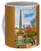 Santa Fe Obelisk A Pigeon And An Accordian Player Coffee Mug