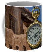 Santa Fe Plaza Clock Coffee Mug