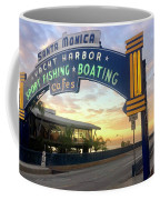 Santa Monica Yacht Harbor Sign Coffee Mug